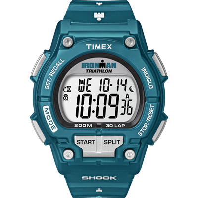 Timex Ironman Bright 夏日亮彩運動腕錶-吸睛藍綠/43mm