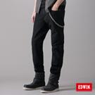 【EDWIN】大尺碼 W.F PREMIuM中直筒保溫褲-男款(黑色)