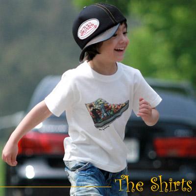 【The Shirts】美式漫畫布鞋短袖T恤 (白色)