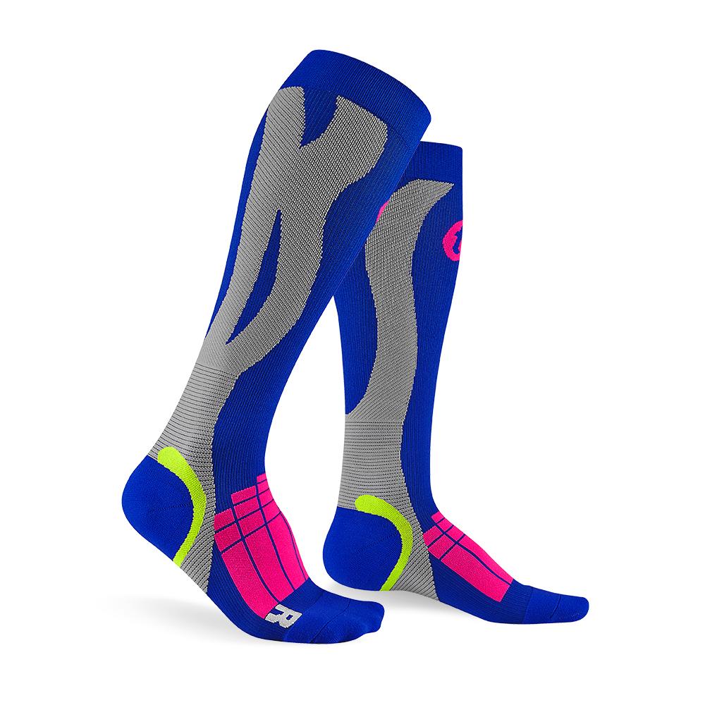 【titan】太肯壓力運動襪 Elite_寶藍/淺灰(適合慢跑、自行車、球類運動)
