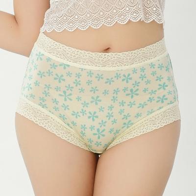 內褲 五瓣花100%蠶絲中高腰三角內褲 (綠) Chlansilk 闕蘭絹