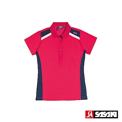 SASAKI-棉質吸濕排汗功能運動休閒短衫-女-紫