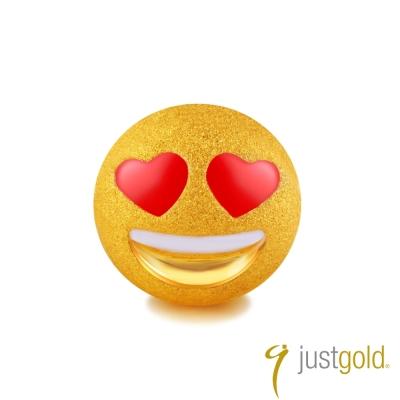 鎮金店Just Gold 黃金單耳耳環- 繽紛派對(LOVE)