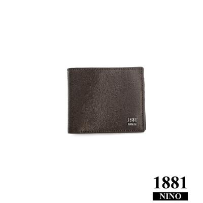 NINO1881- 男人系列帥氣短夾 - 咖啡 (馬毛紋)