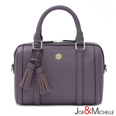 J&M 喬瑟芬流蘇波士頓包 優雅紫