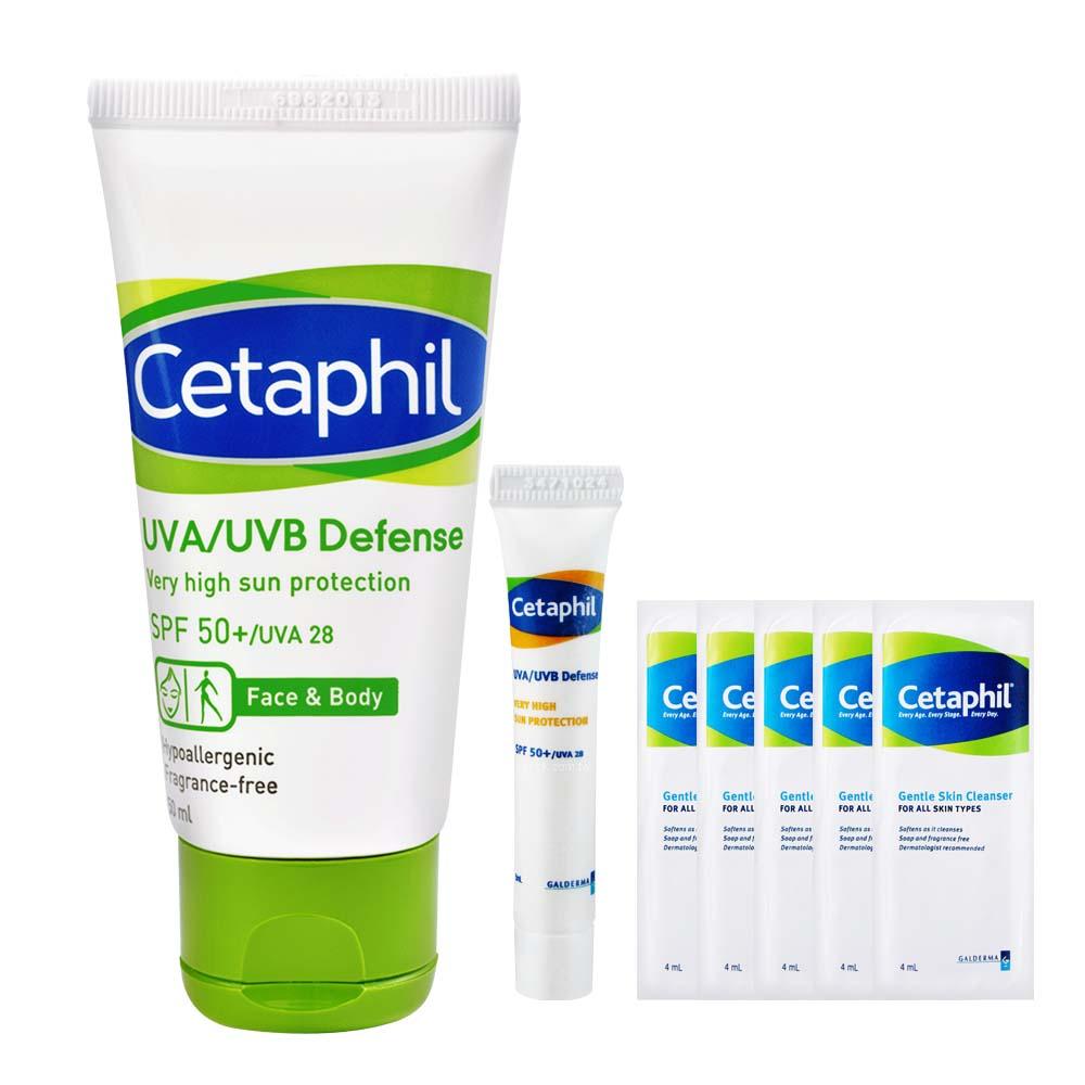 Cetaphil舒特膚 極緻全護低敏防曬霜組