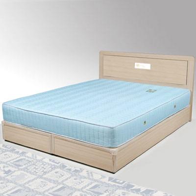 Homelike 朵拉5尺床組+獨立筒床墊-雙人(二色任選)