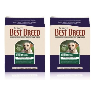 BEST BREED貝斯比 全齡犬無穀雞肉+蔬果配方 犬飼料 6.8kgX2包