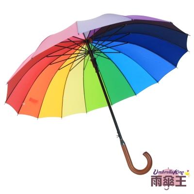 雨傘王 16傘骨彩虹傘《16色漸層彩虹傘》