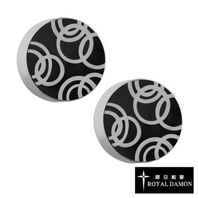 Royal Damon羅亞戴蒙 幾何圓圈 耳環