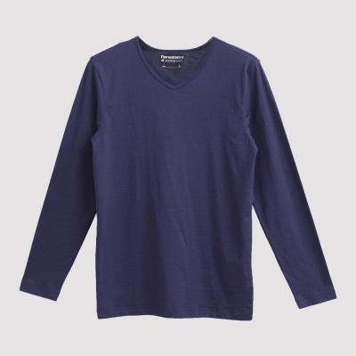 Hang Ten - 男裝 - ThermoContro V領暖溫衣 - 藍
