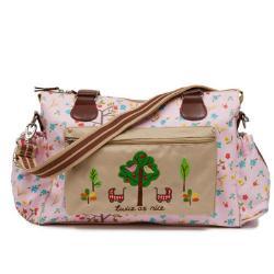 【PinkLining】時尚繽紛媽媽包│雙胞胎大樹 -粉紅蘋果樹
