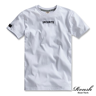 Roush SECURITE植絨美式短TEE(4色)