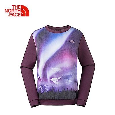 The North Face北面女款暗紫保暖舒適休閒T恤