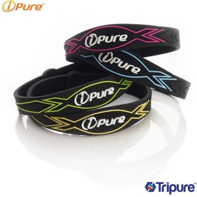 i-Pure 炫彩能量手環-冷黑系列-2入