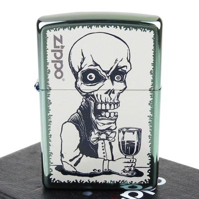 【ZIPPO】美系~Skeleton Bartender-骷髏酒保圖案彩印加工打火機
