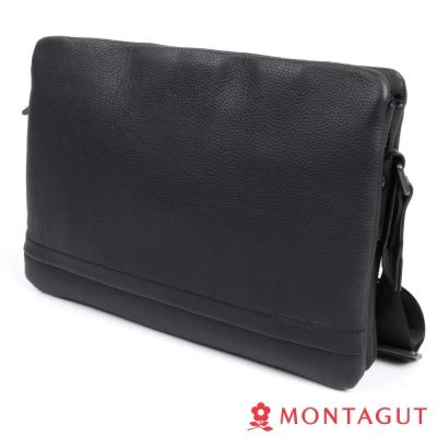 MONTAGUT夢特嬌-100-頭層牛皮側背包-大