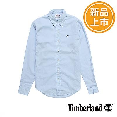 Timberland-男款藍色修身版襯衫