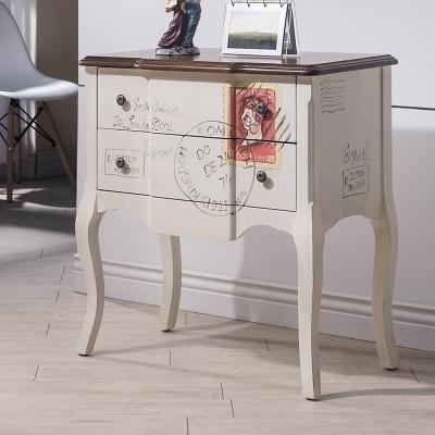 Bernice 夏特仿舊2.4尺二抽造型置物櫃/收納櫃