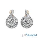 Just Diamond 真女人系列雙色金鑽石耳環-Graceful
