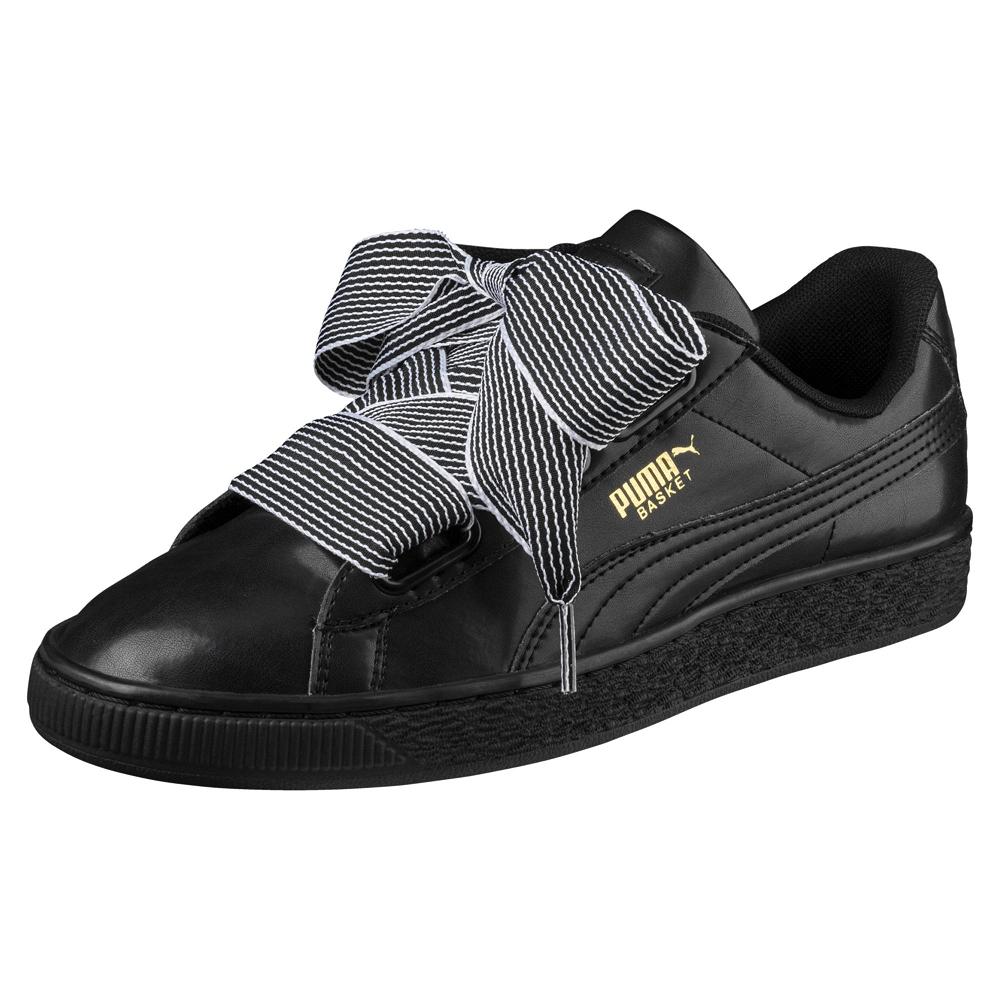 PUMA-BasketHeartWns女籃球鞋-黑色