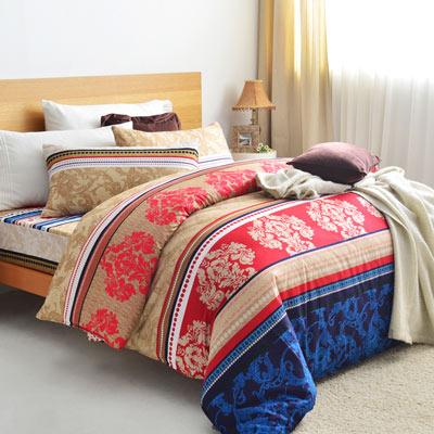 美夢元素 天鵝絨單人三件式 全鋪棉兩用被床包組-美麗的錯誤