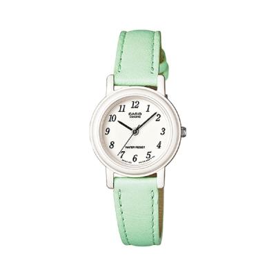 CASIO馬卡龍甜心魅力皮帶腕錶LQ-139L-3B-粉嫩綠26mm