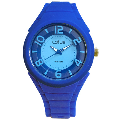 Lotus 撞色潮流 立體指針休閒女錶(TP2132L-05)-深藍/37mm