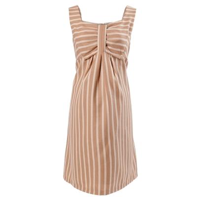 ohoh-mini甜美俏麗條紋短版低腰孕婦洋裝