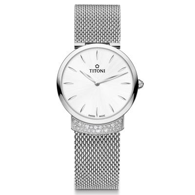 TITONI瑞士梅花錶 優雅伊人系列(TQ 42912 S-590)銀白/32mm