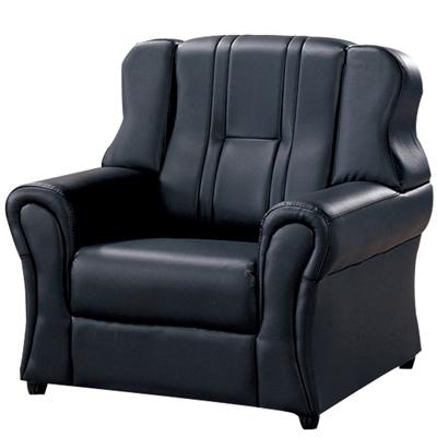 時尚屋 138型一人座透氣皮沙發(可選色)