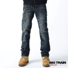 BIG TRAIN-墨達人般若小直筒褲-深藍