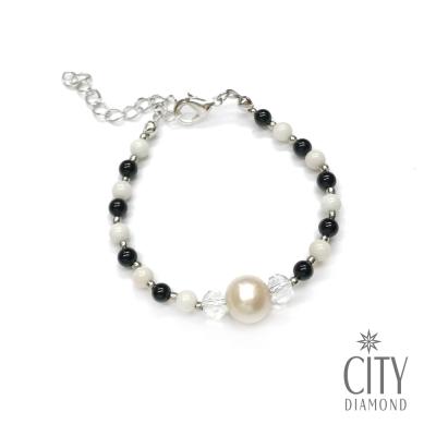 City Diamond引雅 【手作設計系列 】天然綜合珍珠手鍊