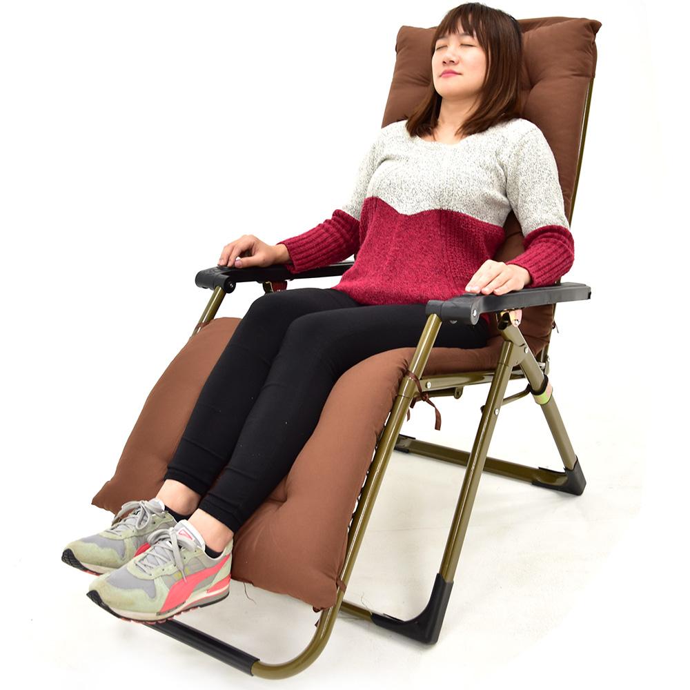 162X55加長保暖加厚折疊躺椅墊