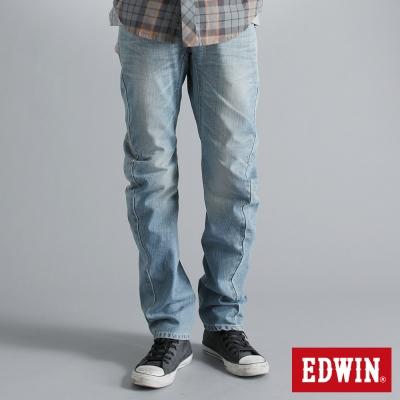 EDWIN-窄直筒-E-F袋蓋牛仔褲-男-拔淺藍
