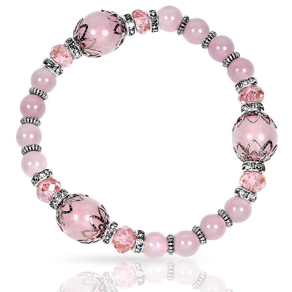 A1寶石 晶鑽桃花貴人粉水晶手鍊