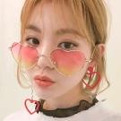 梨花HaNA 韓國粉紅泡泡漫出來紅愛心珍珠耳環