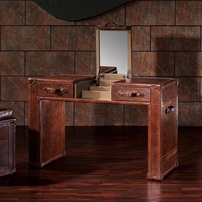 MUSE_Mirande米蘭達復古工業風牛皮桌