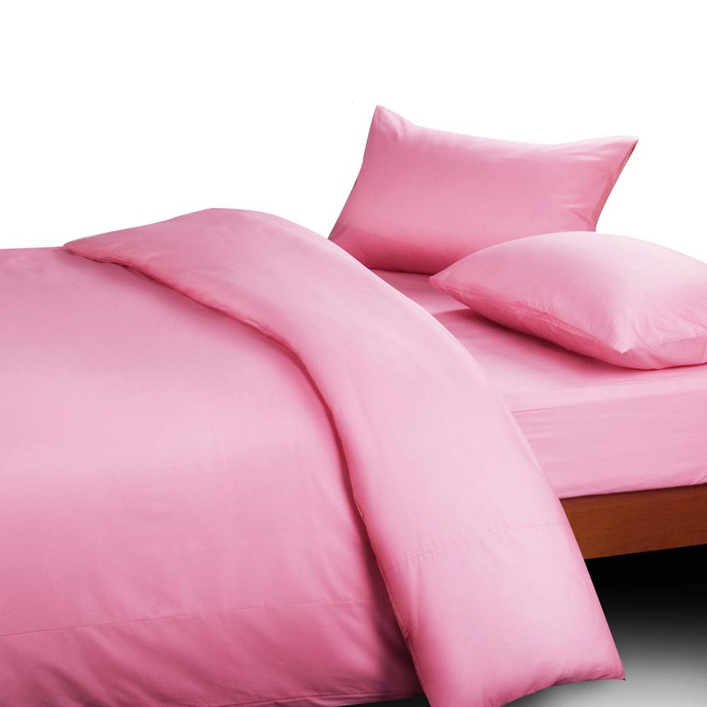 義大利Famttini-典藏原色 精梳棉被套6x7尺-粉紅