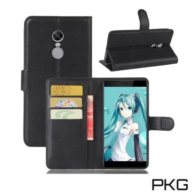 PKG 紅米NOTE4X 皮套側翻式皮套-經典皮革系列-黑色