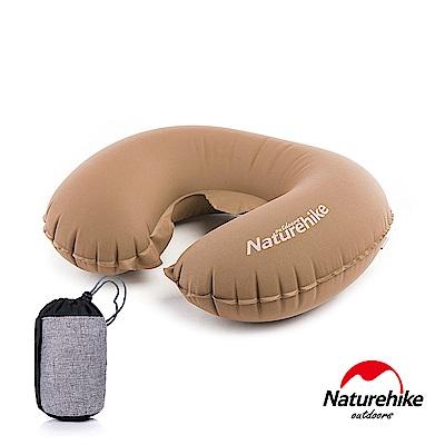 Naturehike TPU超輕量 護頸U型充氣枕 新氣嘴 可可棕
