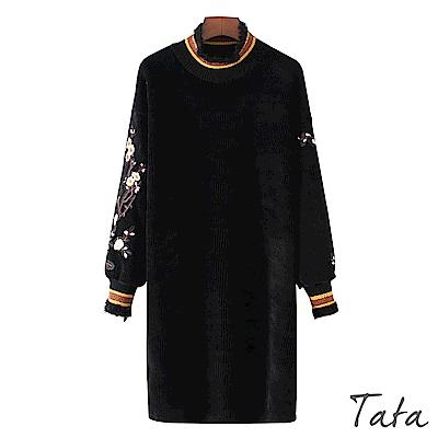 立領刺繡貼布洋裝 TATA