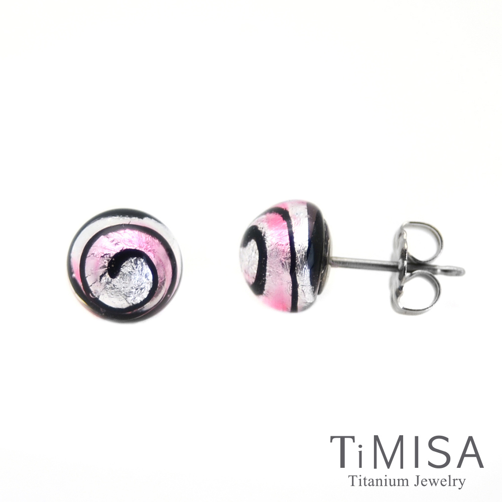 TiMISA 轉轉繽紛 純鈦耳環一對(5色可選)