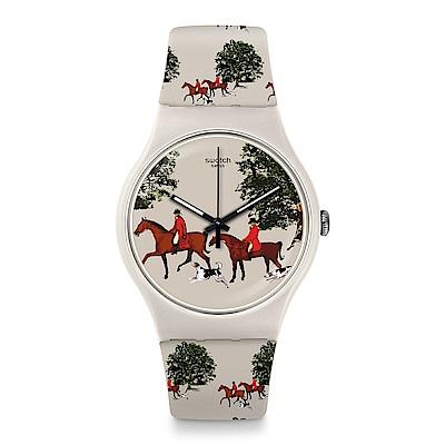 Swatch 英倫風情 RED JACKET 狩獵季節手錶