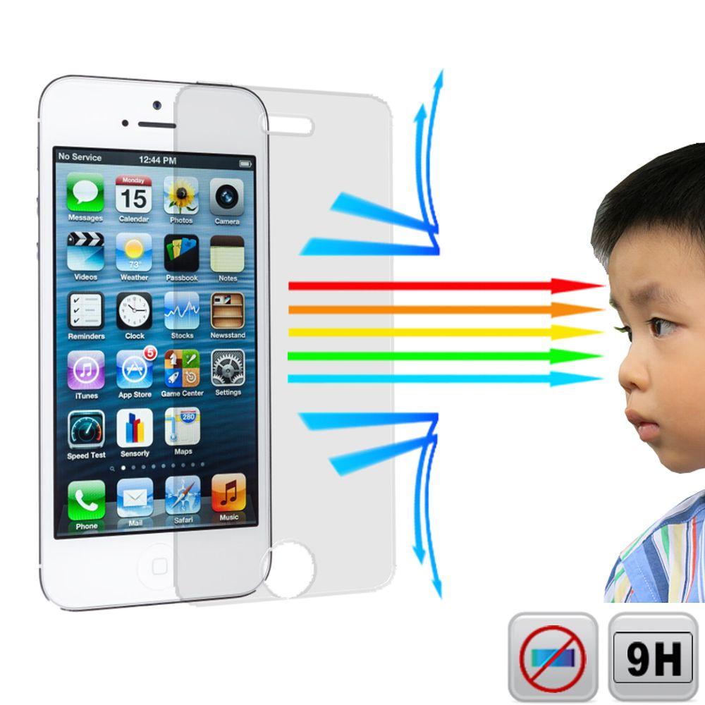 Ezstick 抗藍光 Apple iPhone 5 5S/SE 防藍光鏡面鋼化玻璃膜