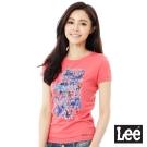 Lee 短袖101+T恤-女-紅
