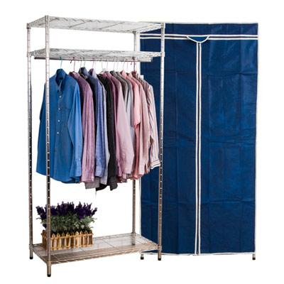 日式鐵力士三層衣櫥(寬90公分)