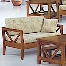 H&D 樟木色實木雙人椅 (寬128.5X深74X高67cm)