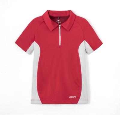 【ATUNAS 歐都納】女款防曬抗菌除臭吸濕排汗快乾短袖polo衫A-P1202W玫紅