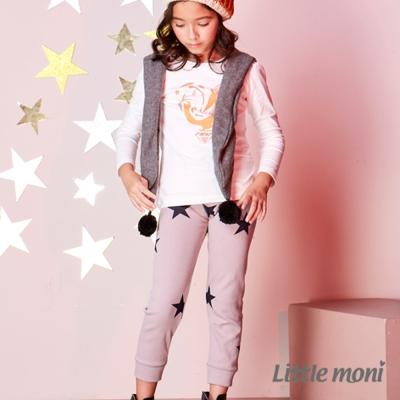 Little moni 星星印圖合身褲 (共2色)